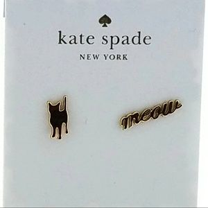 New Black Cat and Meow Designed Earrings